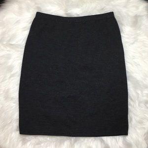 St. John Sportswear Collection Gray Knit Skirt